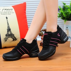 Женщины ткань Танцевальные кроссовки Танцевальные кроссовки с Шнуровка Обувь для танцев (053106486)