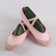 Vrouwen Zeildoek Flats Ballet Dansschoenen (053111504)