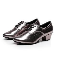 Женщины кожа На каблуках качать Практика с Шнуровка Обувь для танцев (053105442)