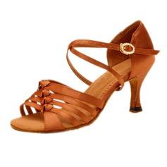 Femmes Satiné Talons Sandales Latin avec Boucle Chaussures de danse (053058033)