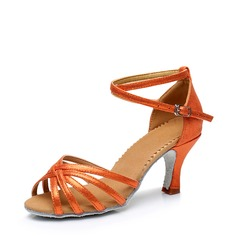 Женщины кожа На каблуках Латино Обувь для танцев (053115125)