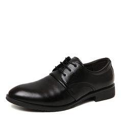 Miesten Keinonahasta Cap Toes Nauhakenkä Juhlakengät Miesten oxford-kengät (259173592)