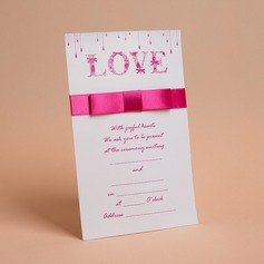 Estilo Clássico Cartão liso Wrap Invitation Cards com Arcos/Fitas (Conjunto de 50) (114030719)
