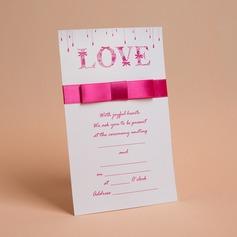 klassisk Stil Flat Card Invitation Cards med Buer/Bånd (Sett Av 50) (114030719)