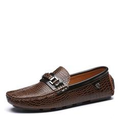 Мужская натуральня кожа Лошадь Мокасины вскользь Men's Loafers (260176586)