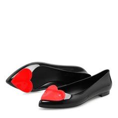 Kvinner PVC Flate sko Lukket Tå sko (086165226)