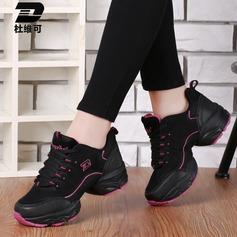 Женщины ткань Танцевальные кроссовки Танцевальные кроссовки с Шнуровка Обувь для танцев (053106489)