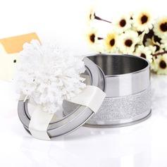Klassiek Cilinder Voordeel tin met Bloemen (Set van 6) (050039710)