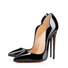 Женщины Лакированная кожа Высокий тонкий каблук На каблуках с Другие обувь (085114616)