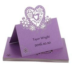 Nice Hjerteformede Perle Papir Bordkort (sæt af 12) (131037431)