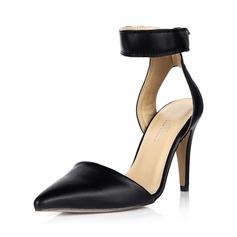 Imitação de couro Salto agulha Bombas Fechados Sapatos abertos sapatos (085042699)