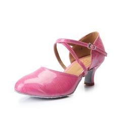 Женщины кожа На каблуках На каблуках Бальные танцы с Ремешок на щиколотке Обувь для танцев (053061984)