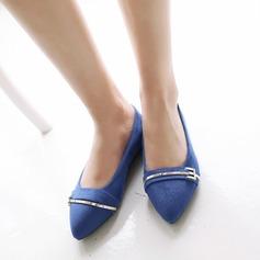 Женщины Замша Плоский каблук На плокой подошве с пряжка обувь (086123496)