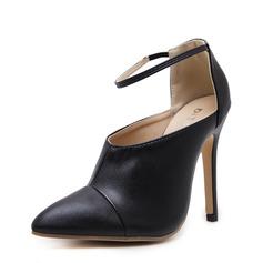 Frauen PU Stöckel Absatz Absatzschuhe mit Gummiband Schuhe (085145957)