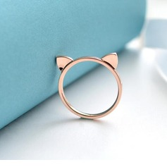 Legering Unieke Alloy Cat Ear Women's Fashion Rings Geschenken (129140576)