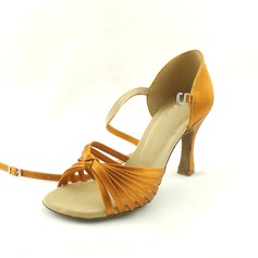 Women's Satin Heels Sandals Latin Dance Shoes (053012615)