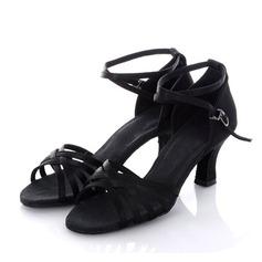 Kvinder Satin Hæle sandaler Latin Dansesko (053011478)