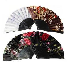 Цветочный дизайн пластиковые/ткань стороны вентилятора (набор из 4) (051055112)