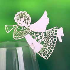 Engel udformning Perle-papir Bordkort (sæt af 12) (131037422)