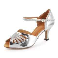 Vrouwen Sprankelende Glitter Patent Leather Hakken Sandalen Latijn Dansschoenen (053021561)