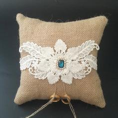 Красивая Кольцо подушки в Кружева/Белье с Стразы/Цветы (103096221)