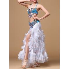 Женщины Одежда для танцев хлопок полиэстер шифон Танец живота Инвентарь (115086458)