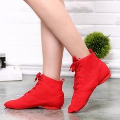 Женщины Холст Ботинки Джаз с Шнуровка Обувь для танцев (053108924)