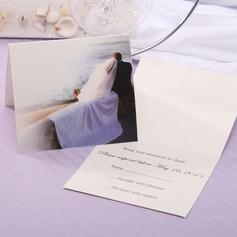 personalisé Style de la mariée et du marié Pli horizontal Cartes de réponses (Lot de 20) (114063890)