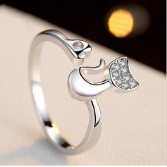 Unique Cat Women's Fashion Rings Geschenken (129140493)
