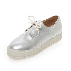 Vrouwen Kunstleer Flat Heel Flats Closed Toe schoenen (086089833)