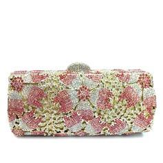 Нежный Кристалл / горный хрусталь/позолоченный Клатчи/Сумочка невесты/Роскошные сумка (012069700)