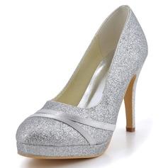 Mulheres Espumante Glitter Salto agulha Fechados Bombas (047039651)