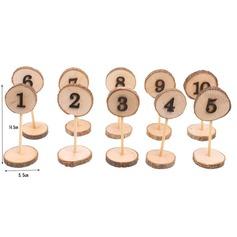 Классический Деревянный Номер таблицы карты (набор из 10) (051179168)