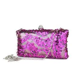 Lovely Espumante Glitter com Strass Embreagens (012040757)