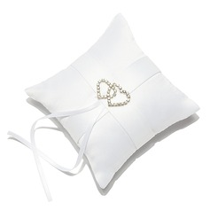мини Кольцо подушки в Атлас с Стразы/Двойные сердца (103053070)