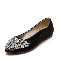 Женщины PU Плоский каблук На плокой подошве Закрытый мыс с Другие обувь (086154129)