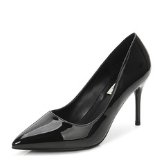 Women's Patent Leather Stiletto Heel Pumps Closed Toe With Others shoes (085155256)