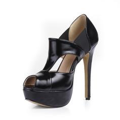 Kunstleer Stiletto Heel Sandalen Plateau Peep Toe schoenen (085026442)