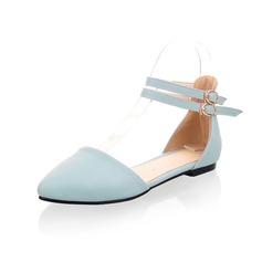 Konstläder Flat Heel Platta Skor / Fritidsskor Stängt Toe med Spänne skor (086048931)