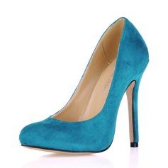 Suede Stiletto Heel Pumps Closed Toe schoenen (085017511)