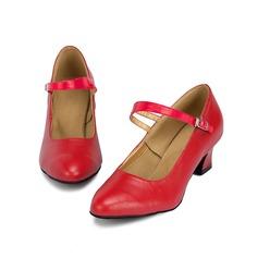 Женщины Натуральня кожа На каблуках На каблуках Обувь для Персонала Обувь для танцев (053064673)