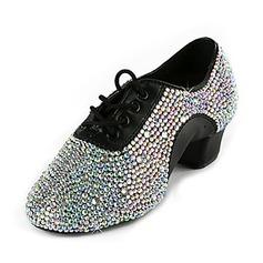 Dos homens Couro Sem salto Treino com Strass Sapatos de dança (053018503)