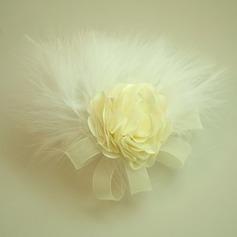 Дамы Красивая чистая пряжа/перо/шелковые цветы лоб ювелирные изделия/шляпа (042143682)