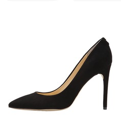 Women's Suede Stiletto Heel Pumps Closed Toe With Others shoes (085142847)