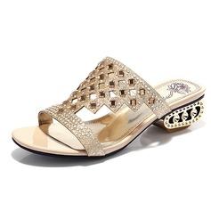 Kuohuviini glitteri Chunky heel Sandaalit Avokkaat jossa Tekojalokivi kengät (087048995)