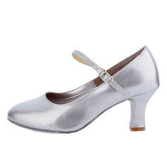 Women's Leatherette Heels Pumps Ballroom Dance Shoes (053011473)