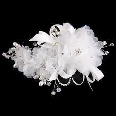 Специальный горный хрусталь/сплав/Перлы ложный/чистая пряжа/шелковые цветы ободки (Продается в виде единой детали) (042144262)