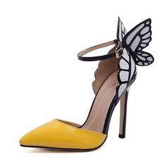 Donna Similpelle Tacco a spillo Stiletto con Bowknot scarpe (085103367)