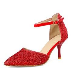 Mulheres Espumante Glitter Salto agulha Sandálias Bombas Fechados Mary Jane com Fivela sapatos (085167126)