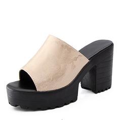 Женщины PU Устойчивый каблук Сандалии На каблуках обувь (087155479)